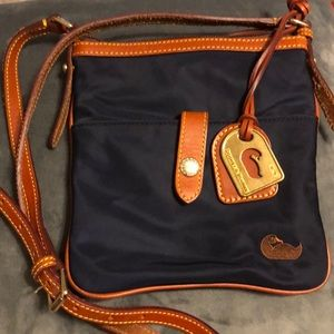 Navy nylon Dooney cross over purse